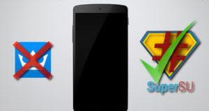 replace kinguser app with supersu