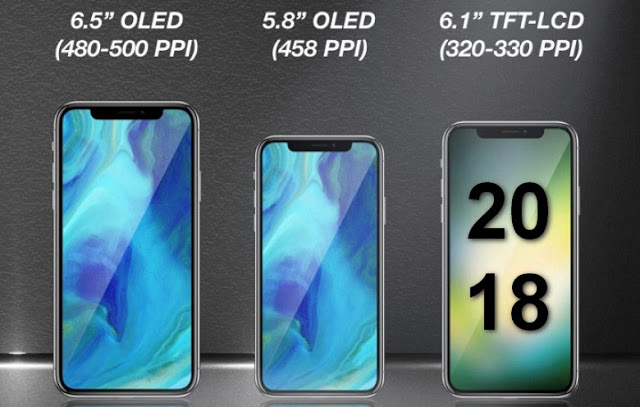 2018 iPhone line up