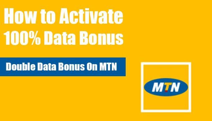 activate 100% data bonus on MTN, Double data bonus