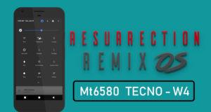 Resurrection Remix OS Custom rom for tecno w4