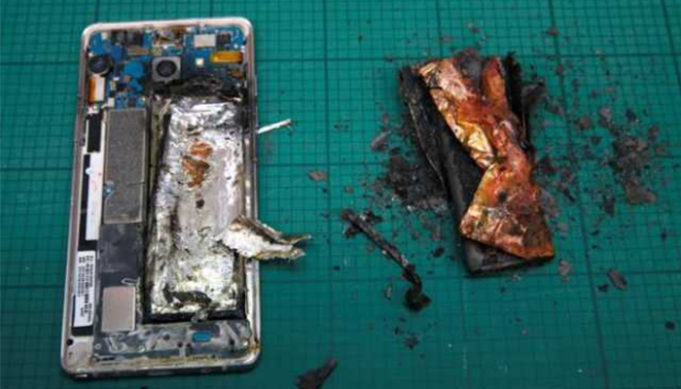 Samsung Galaxy Note 9 Catches Fire