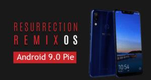 Resurrection Remix Android Pie for Tecno Camon 11