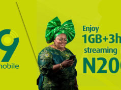 9mobile 3Hours Free Streaming plan